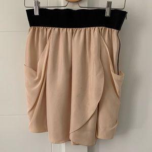 Wilfred cream silk tulip skirt with pockets, sz 2
